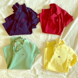 Lot of Lacoste and Ralph Lauren Polos (4)